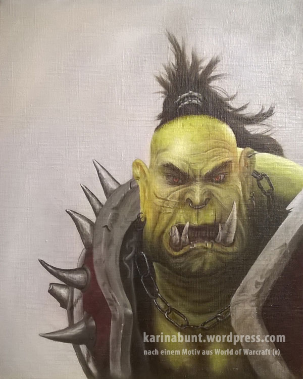 Portraitkopf eines Orc-Kriegers (Old Scarface) aus WOW