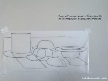Übertragung mit Transparentpapier