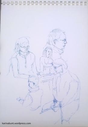 Tintenroller auf Papier, 30x40cm (2017)