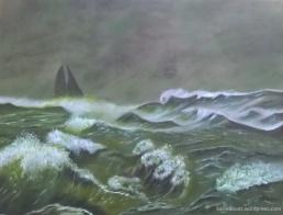 Öl, Tempera u. Tusche auf HF-Platte, 60x80cm (2017)