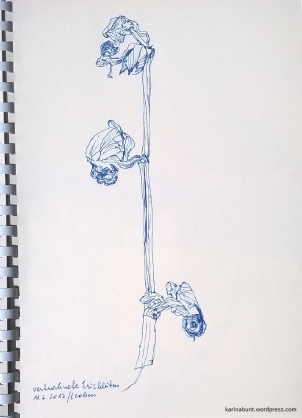 Tintenroller auf Papier, 20x30cm