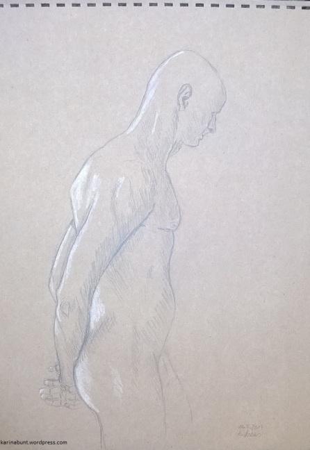 Graphit u. Kreide auf Tonpapier, 30x40cm