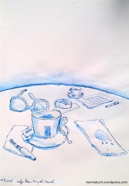 Tintenroller auf Papier, 20x30cm (2015)