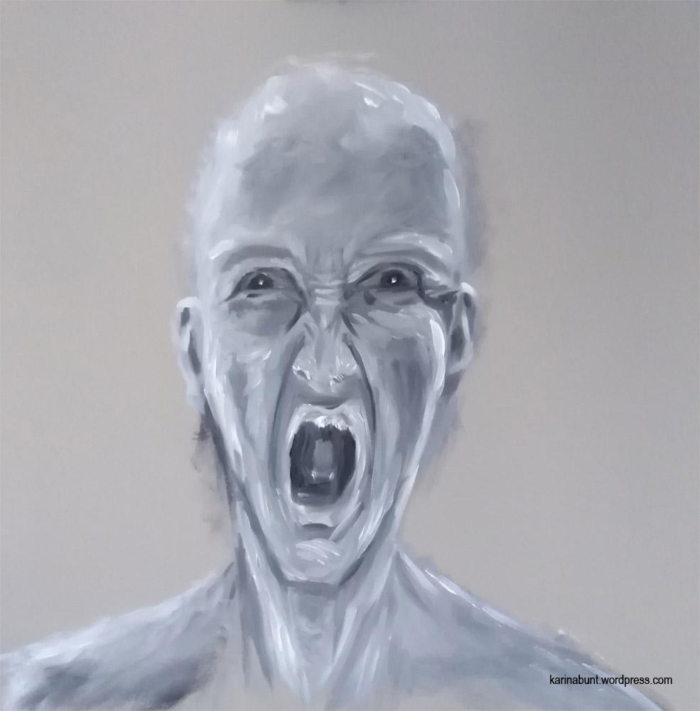 Darstellung einer wütenden Person