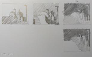 Bleistift auf Papier, je 4x5cm (2019)
