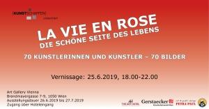 Flyer Ausstellung La vie en rose