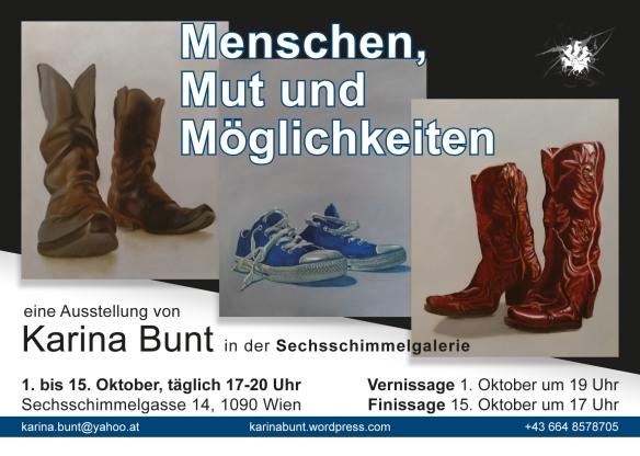 Ausstellungseinladung Sechsschimmelgasse 1.-15.10.2019