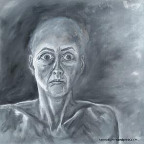 malerische Darstellung der Emotion Angst
