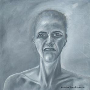 malerische Darstellung der Emotion Ärger, Ablehnung