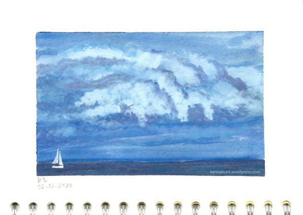 Segelboot bei aufziehendem Gewitter