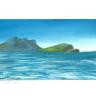 Landschaft mit Meer und Felsen