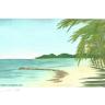 Landschaft mit Meer in der Karibik