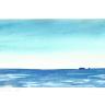 Landschaft mit Meer