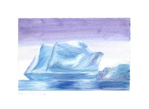 Eisberg in Abendstimmung