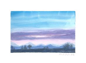 Landschaft mit Abendstimmung