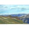 Landschaft mit Bergen