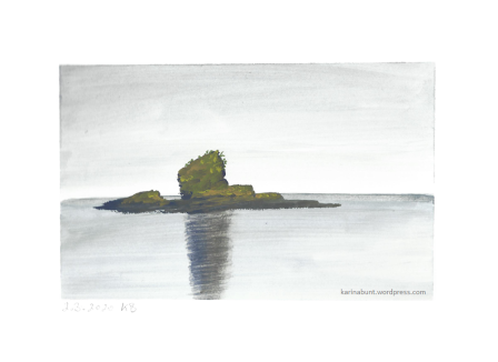 kleine Insel im Meer