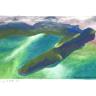 Landschaft mit Halbinsel aus Vogelperspektive