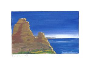 Landschaft mit Meer und Fels