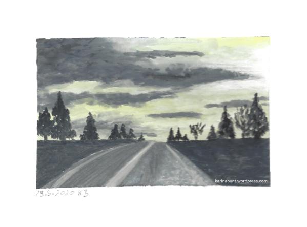 Landschaft mit Straße