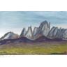 Landschaft mit Gebirge
