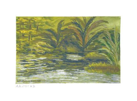 Sumpflandschaft mit Palmen