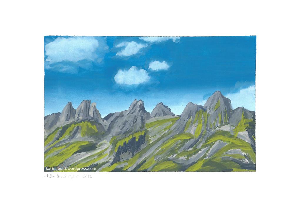 felsige Bergkette