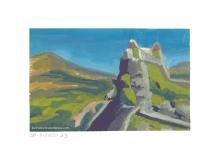 Hügel mit Burgruine