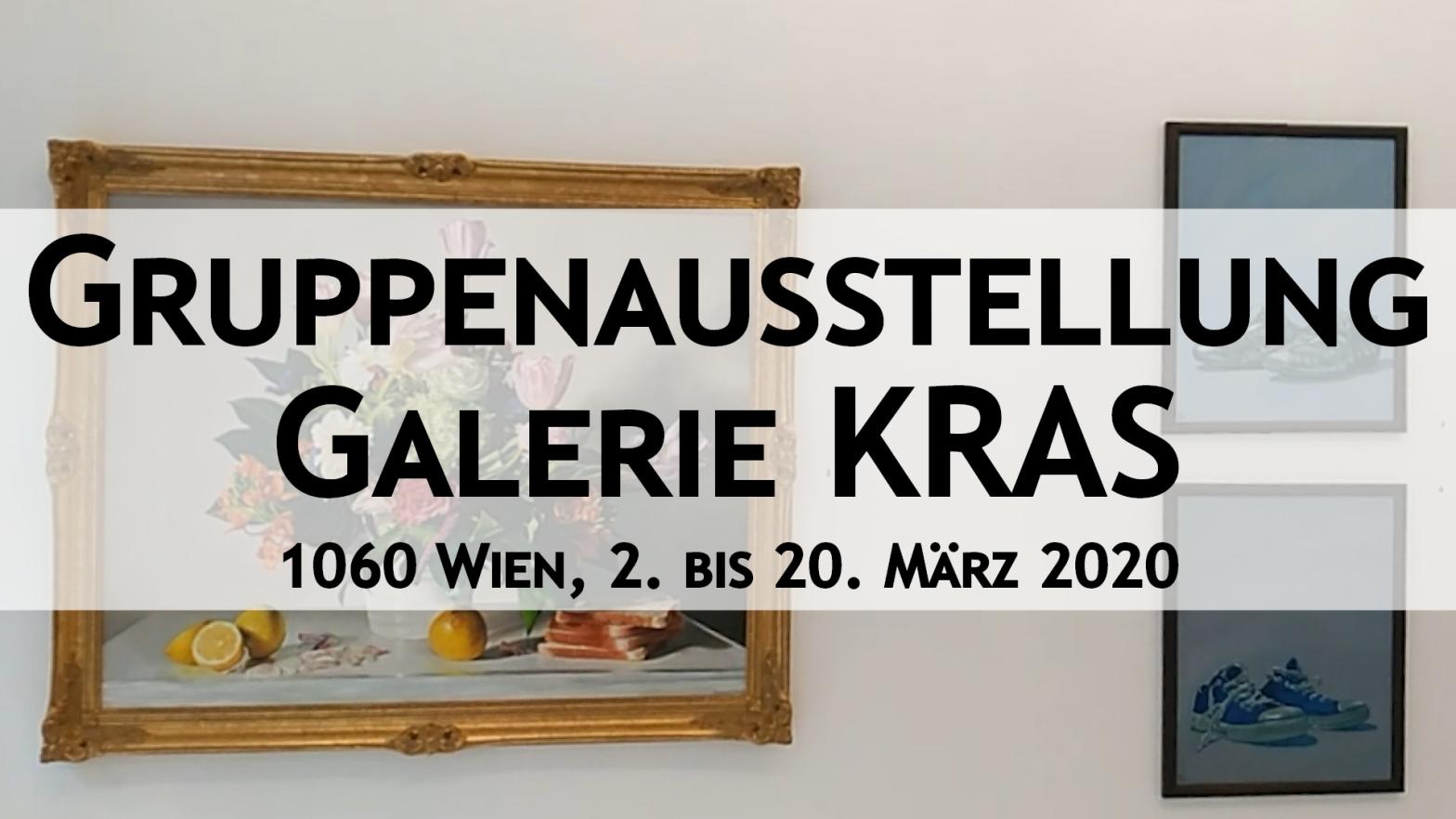 Standbild zur Ausstellung in der Galerie KRAS, 2.-20.3.2020