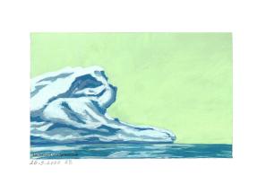 Eisberg im Meer treibend