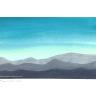 weit entfernte Bergketten